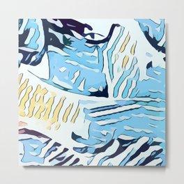 Water Nips Metal Print