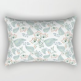 Delicate floral pattern on white. Rectangular Pillow