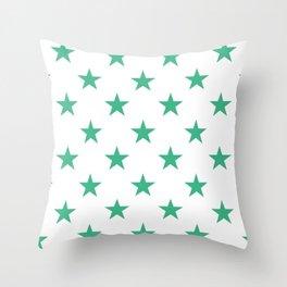 Stars (Mint/White) Throw Pillow