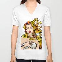 lichtenstein V-neck T-shirts featuring VENUS ARTPOP by Alli Vanes