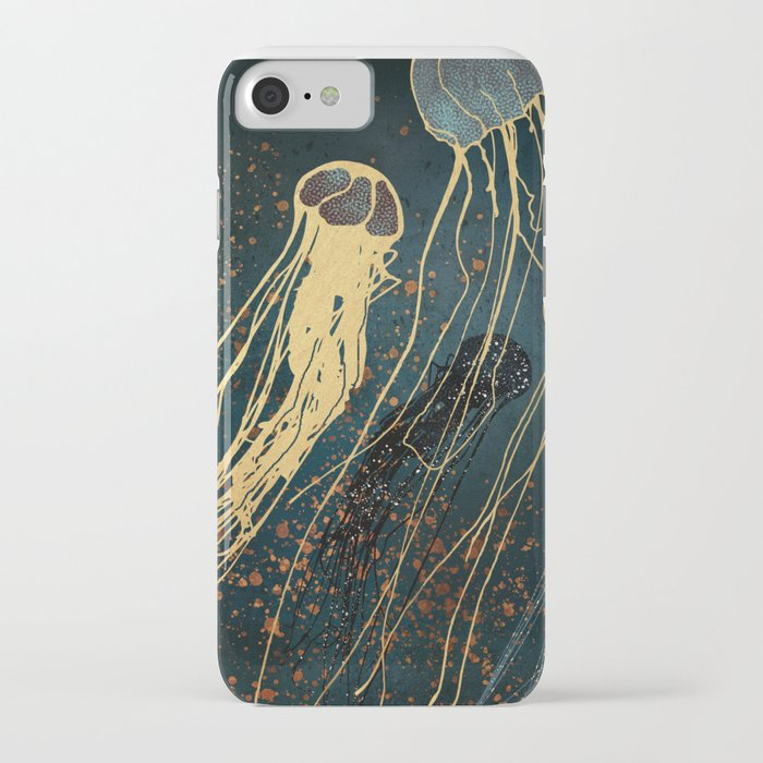 Metallic Jellyfish iPhone Case