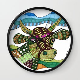 Cows Are People Too Wall Clock