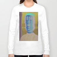 renaissance Long Sleeve T-shirts featuring The Renaissance Glitch Gaze by Norms