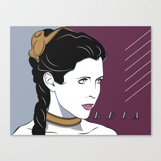 80s Princess Leia Slave Girl Canvas Print