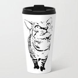 Tiny the Cat Metal Travel Mug