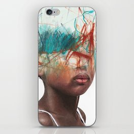 Creative coiffure iPhone Skin