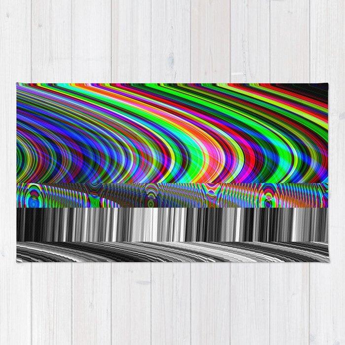 Old Tv Screen Error Glitch Effect Rug By Wittmann Society6