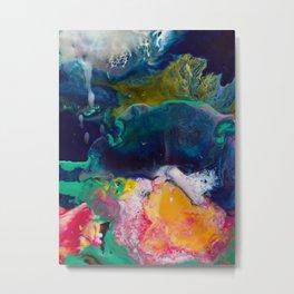 Abstract Melt XI Metal Print