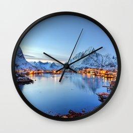Lofoten islands, Norway Wall Clock