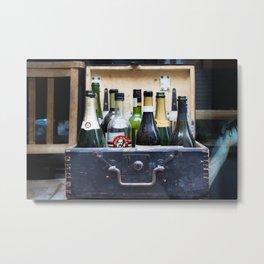 Vintage Bottle Bar Metal Print