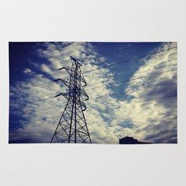 Heavenly spring sky in an industrial world Rug