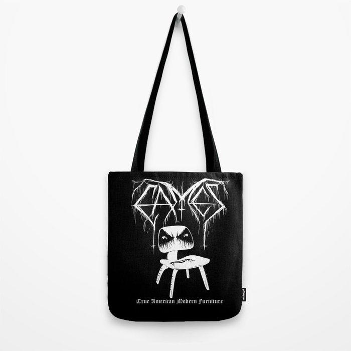 Modern Black Metal Tote Bag