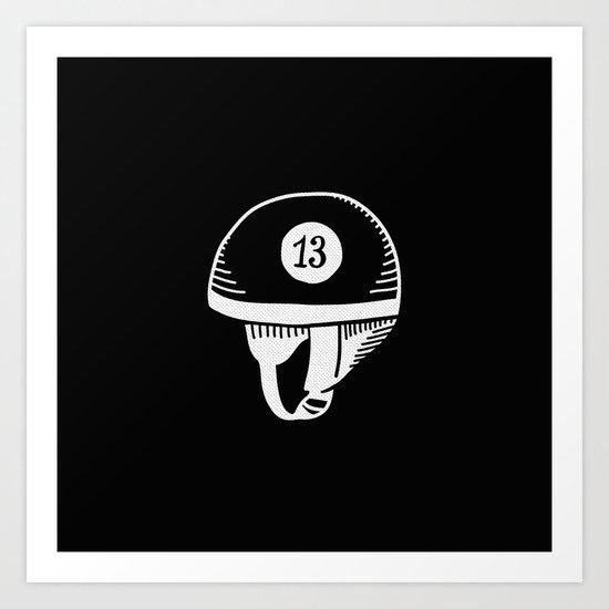 Old helmet - 13 Art Print