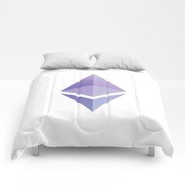Ethereum ETH Blue Purple Logo Design Comforters
