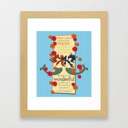 Happy Darling Mermaids Framed Art Print