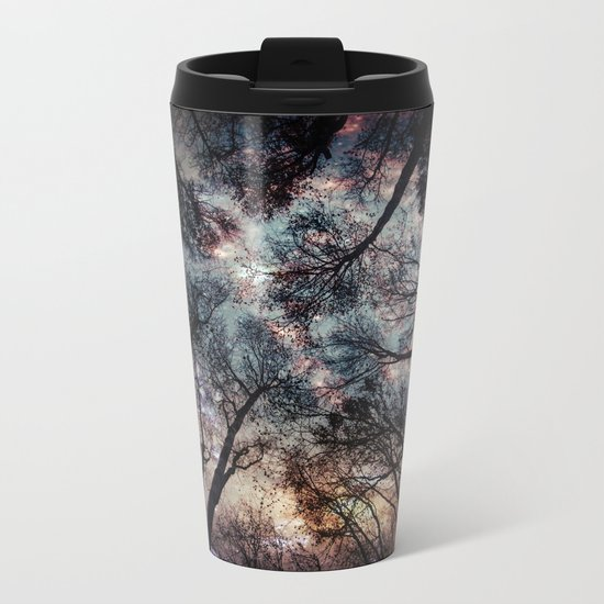 Starry Sky in the Forest Metal Travel Mug