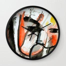 Face wash Wall Clock