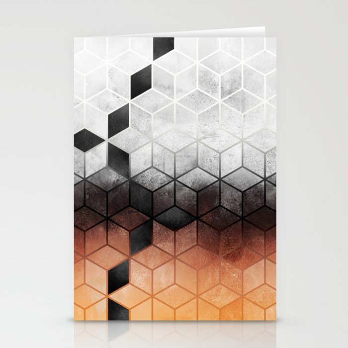 Ombre Concrete Cubes Stationery Cards