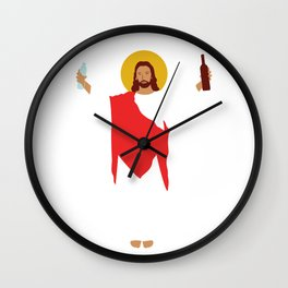Party Jesus Turns Water Into Wine Wall Clock