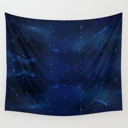 Blue Space Wall Tapestry