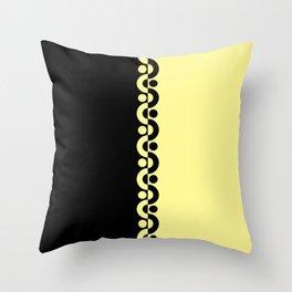 Yellow & Black  / Two Tone Modern Throw Pillow