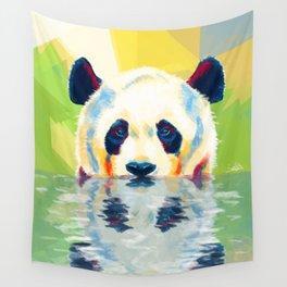 Panda taking a bath Wall Tapestry