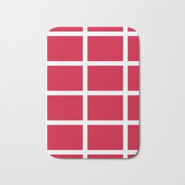 abstraction from the flag of denmark Bath Mat