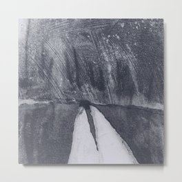 Woman Driving, Man Sleeping Metal Print