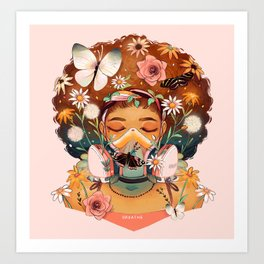 Breathe Deep Art Print