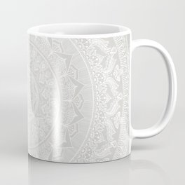 Mandala Soft Gray Coffee Mug