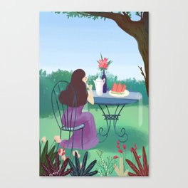 Beautiful Garden Girl Canvas Print