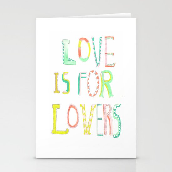 LOVE IS FOR LOVERS 2 Stationery Cards