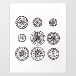 Compasses Art Print