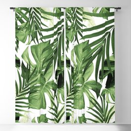 Tropical Jungle Leaves Pattern #12 #tropical #decor #art #society6 Blackout Curtain