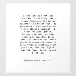 Jane Eyre Quote Art Print