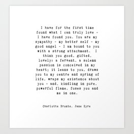 Jane Eyre Quote Art Print