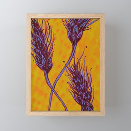 Seed Pods - Wheat Spikes Framed Mini Art Print