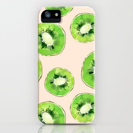 Kiwis pattern iPhone Case