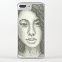 Corinne Bailey Rae Pencil Portrait Clear iPhone Case