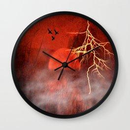 Red moon Wall Clock