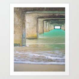 Hanalei Bay Pier Fine Art photography Art Print