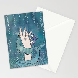 Poseidon's Whales Stationery Cards