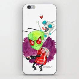 Invader Zim Hug iPhone Skin