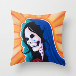 Dia de los Muertos - La Dolorosa Throw Pillow