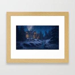 Winter Night Framed Art Print