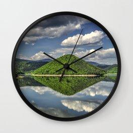 Summer reflections Wall Clock