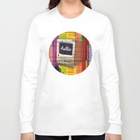 mac Long Sleeve T-shirts featuring Hello Mac by Roberlan Borges