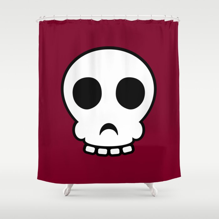 Goofy Skull Shower Curtain