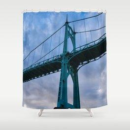 St. Johns Bridge, Gothic Tower Shower Curtain
