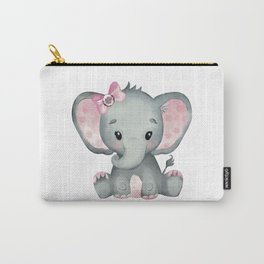Cute Baby Elephant Carry-All Pouch